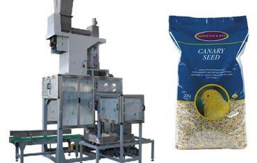 20 kg teravilja seemneid avatud suu pakkimine ja koti täitmise kaalud
