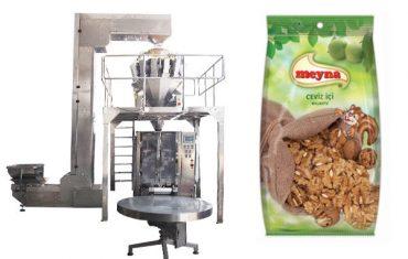 pähklid vertikaalse pakkemasinaga