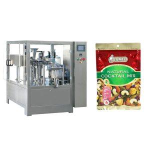 Pähklid pöörleva tõmblukuga pakendi masin