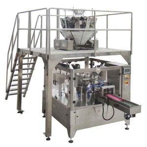 Rotary automaatne tõmblukukott täitke tihendi pakkimismasin seemnete pähklite jaoks